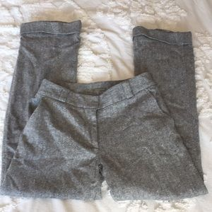 J crew gray wool blend trousers size 6